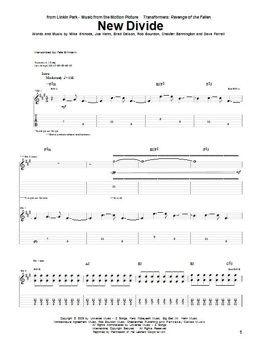 New Divide sheet music