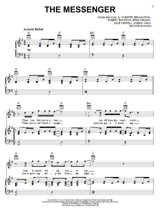 The Messenger sheet music