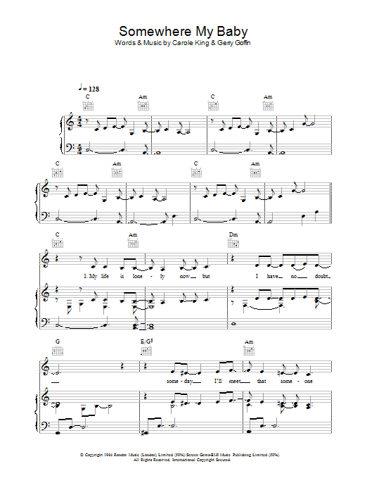 Somewhere My Baby Waits For Me sheet music