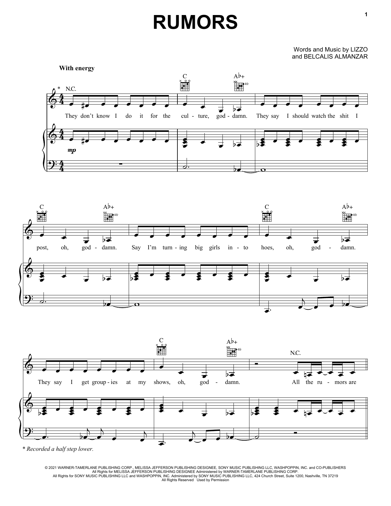 Rumors (feat. Cardi B) sheet music