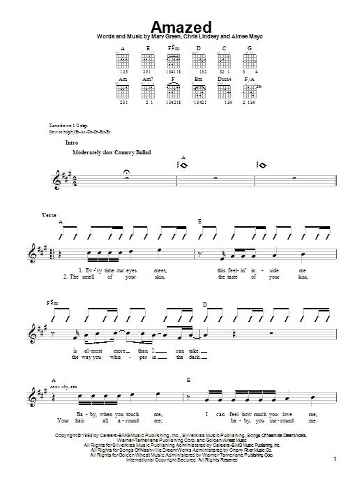 Amazed sheet music