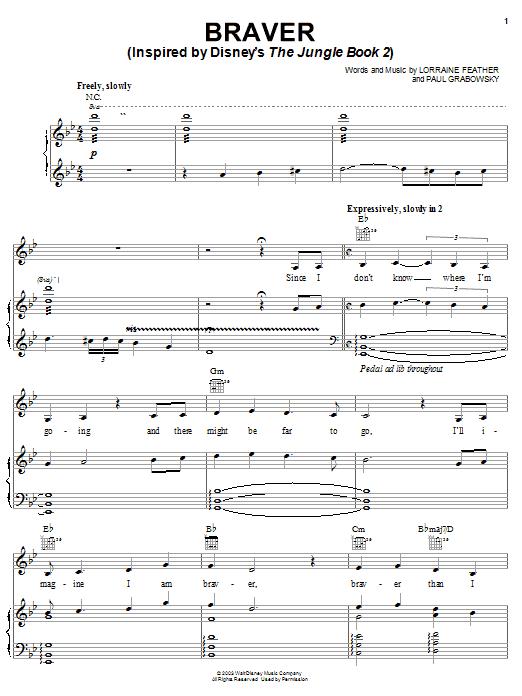 Braver sheet music