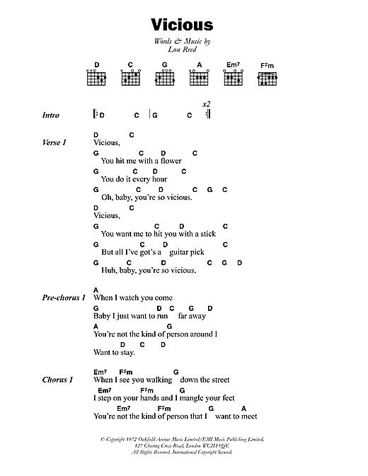 Vicious sheet music