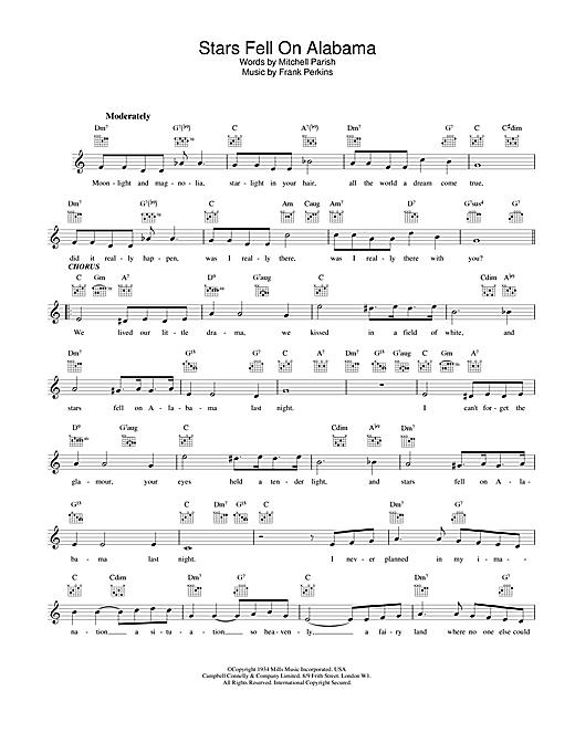 Stars Fell On Alabama sheet music