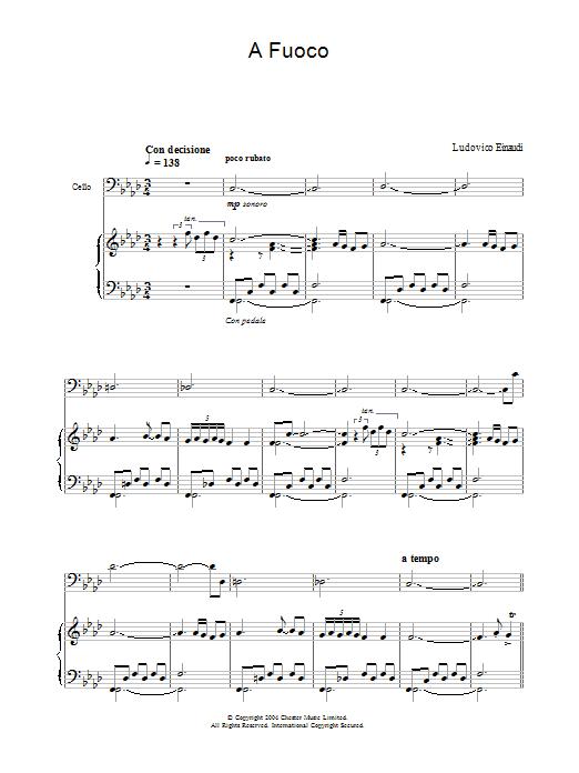 A Fuoco sheet music
