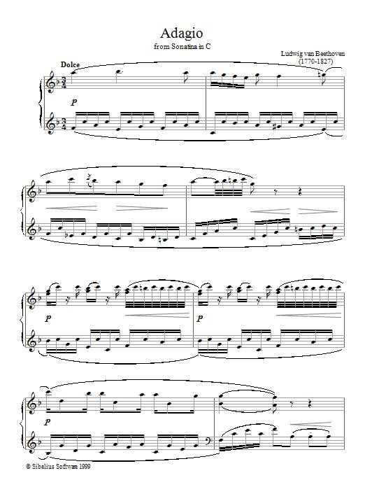 Adagio Sonatina In C sheet music