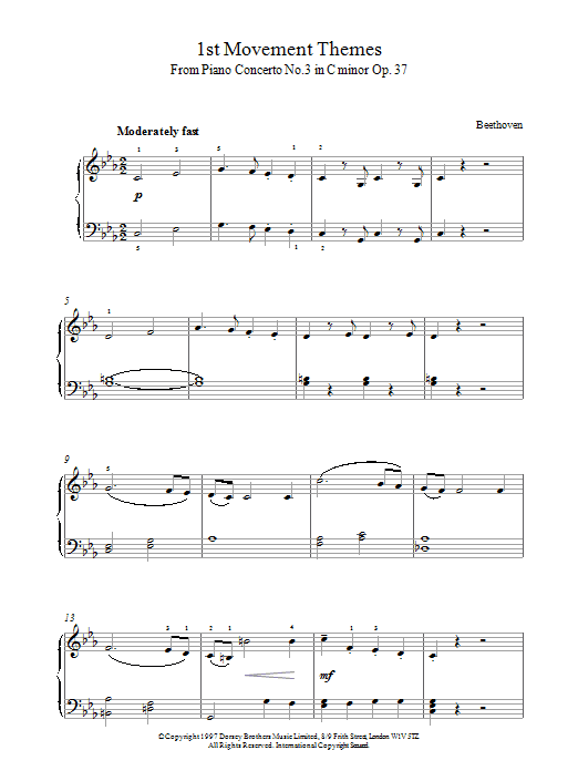 First Movement Themes from Symphony No.6 sheet music