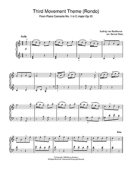 Piano Concerto No.1 in C Major Op.15, Rondo sheet music