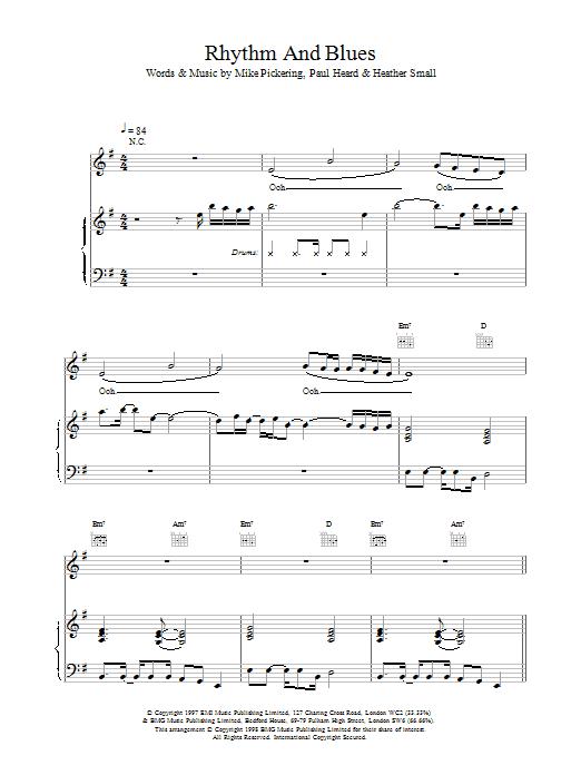 Rhythm And Blues sheet music