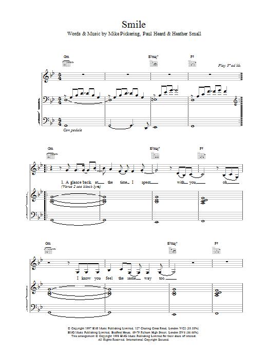 Smile sheet music