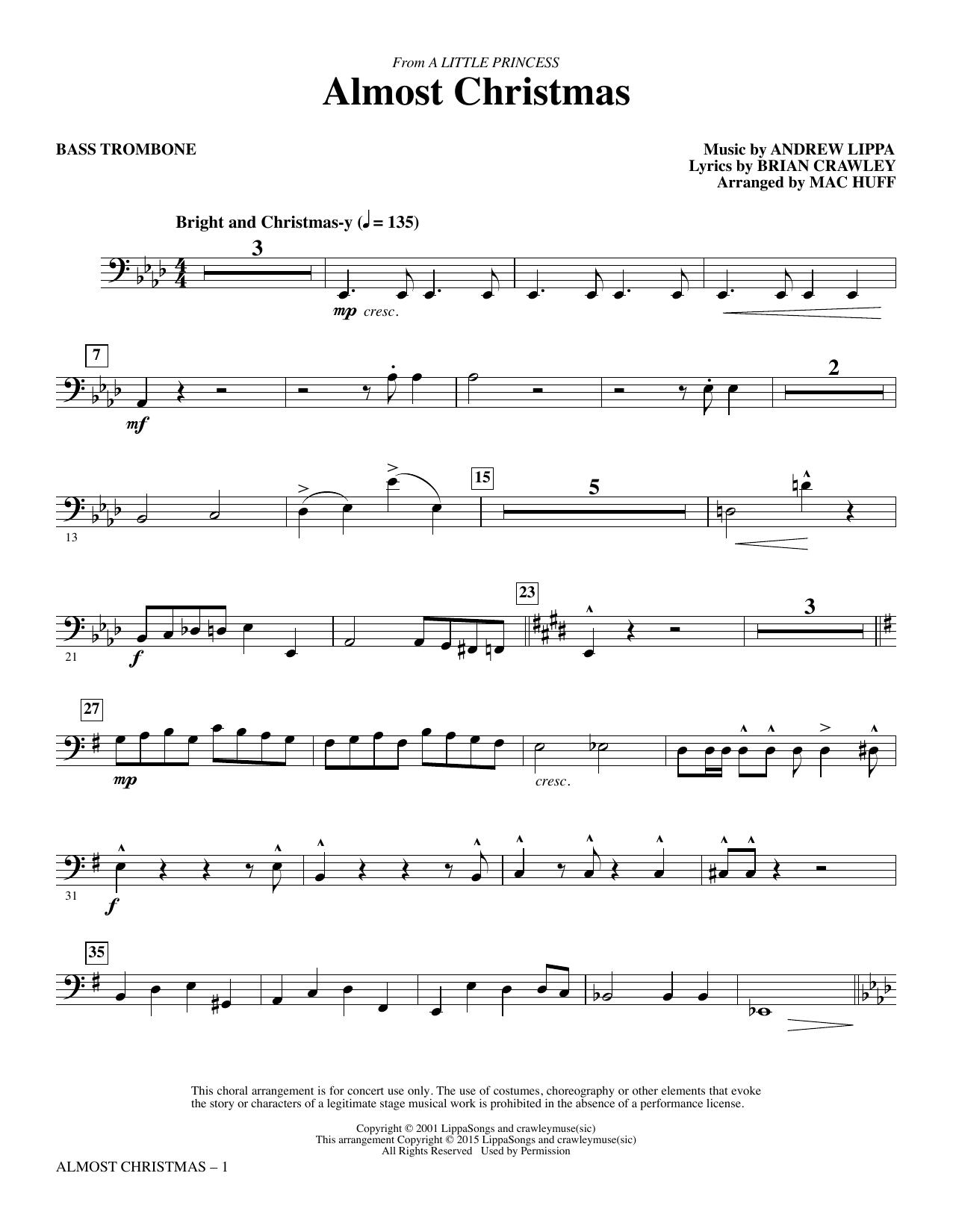 Almost Christmas - Bass Trombone sheet music