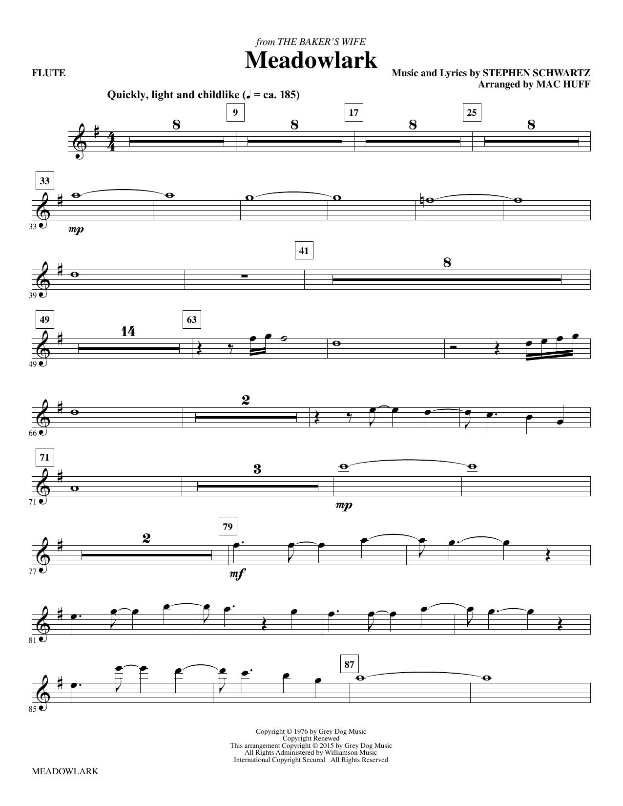 Meadowlark - Flute sheet music