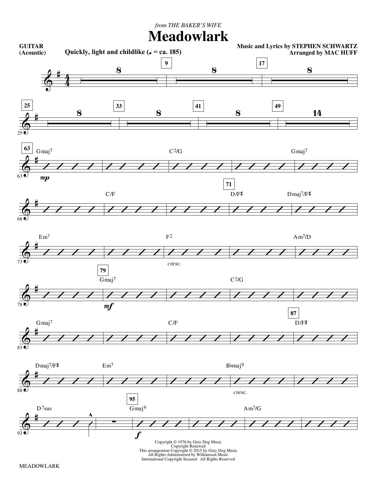 Meadowlark - Guitar sheet music