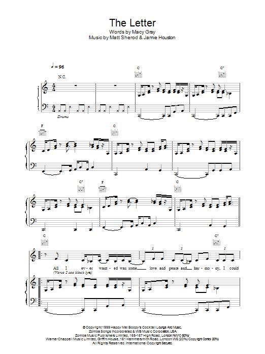 The Letter sheet music