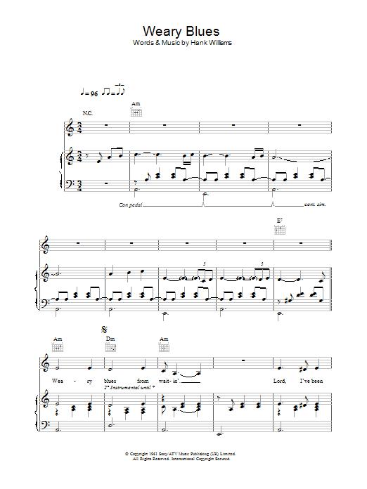 Weary Blues sheet music