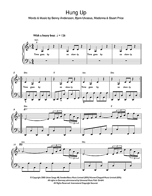 Hung Up sheet music