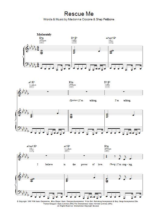 Rescue Me sheet music