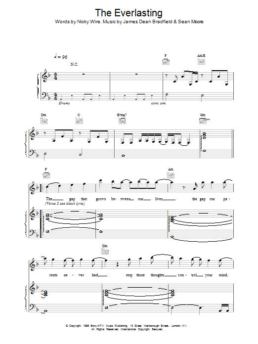 Everlasting sheet music