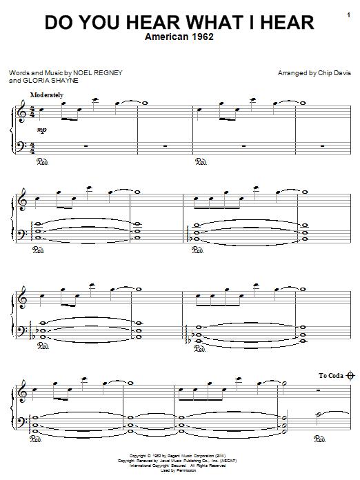 Do You Hear What I Hear sheet music