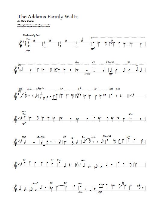 Addams Family Waltz sheet music