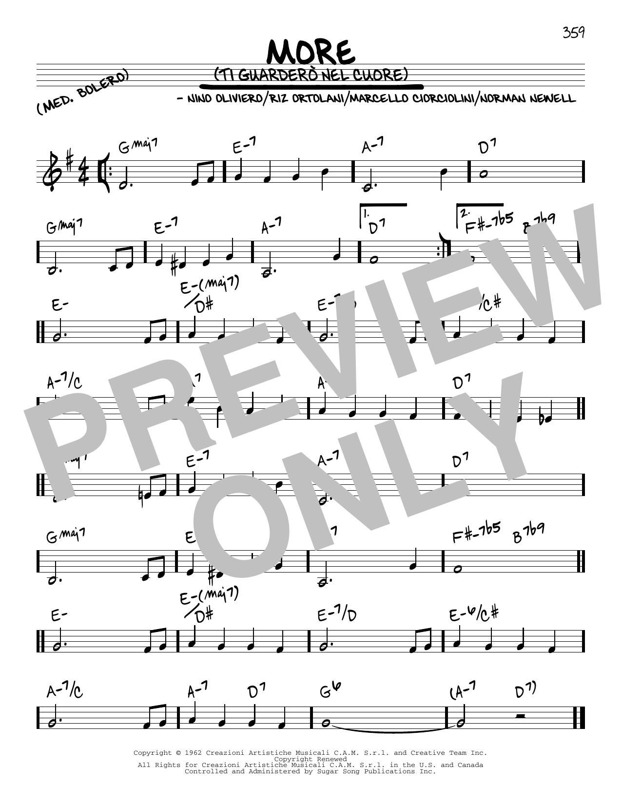 More (Ti Guardero Nel Cuore) sheet music