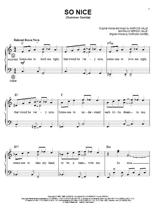 So Nice (Summer Samba) sheet music