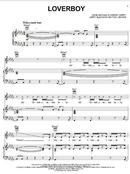 Loverboy sheet music