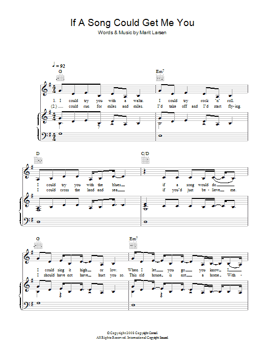 If A Song Could Get Me You sheet music