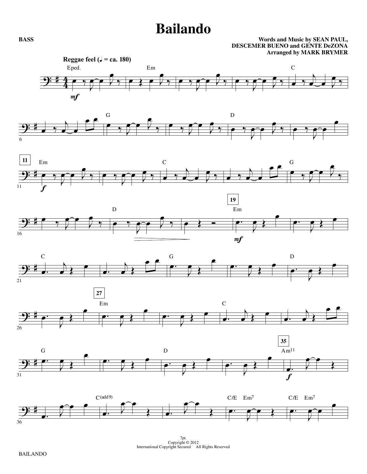 Bailando - Bass sheet music