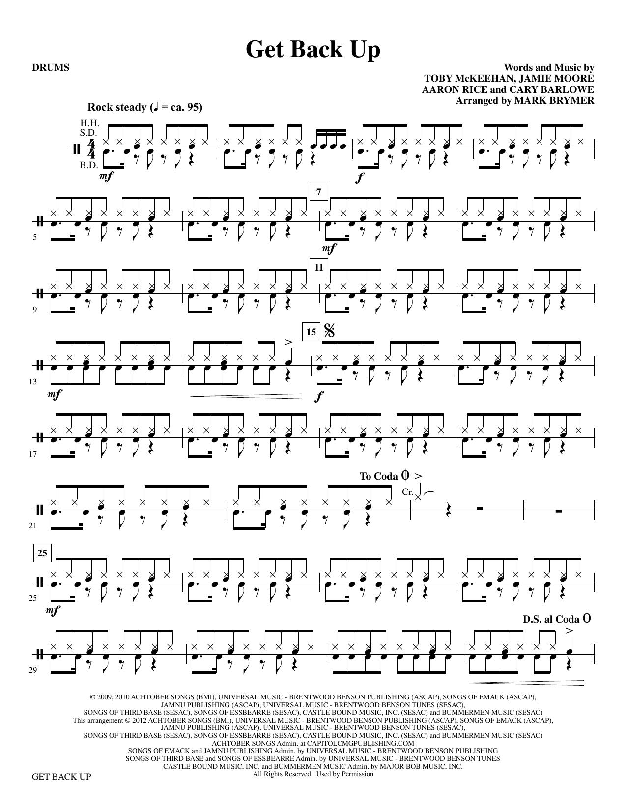 Get Back Up - Drums sheet music