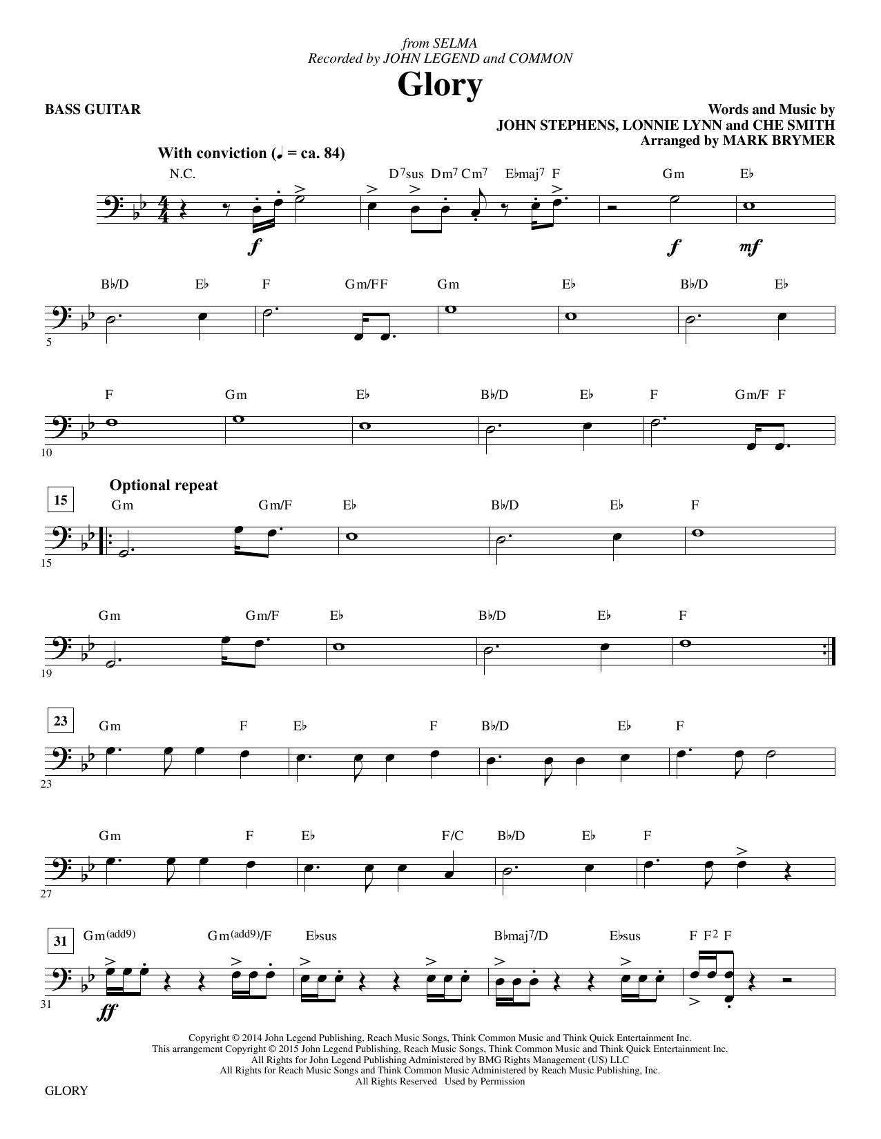 Glory - Electric Bass sheet music