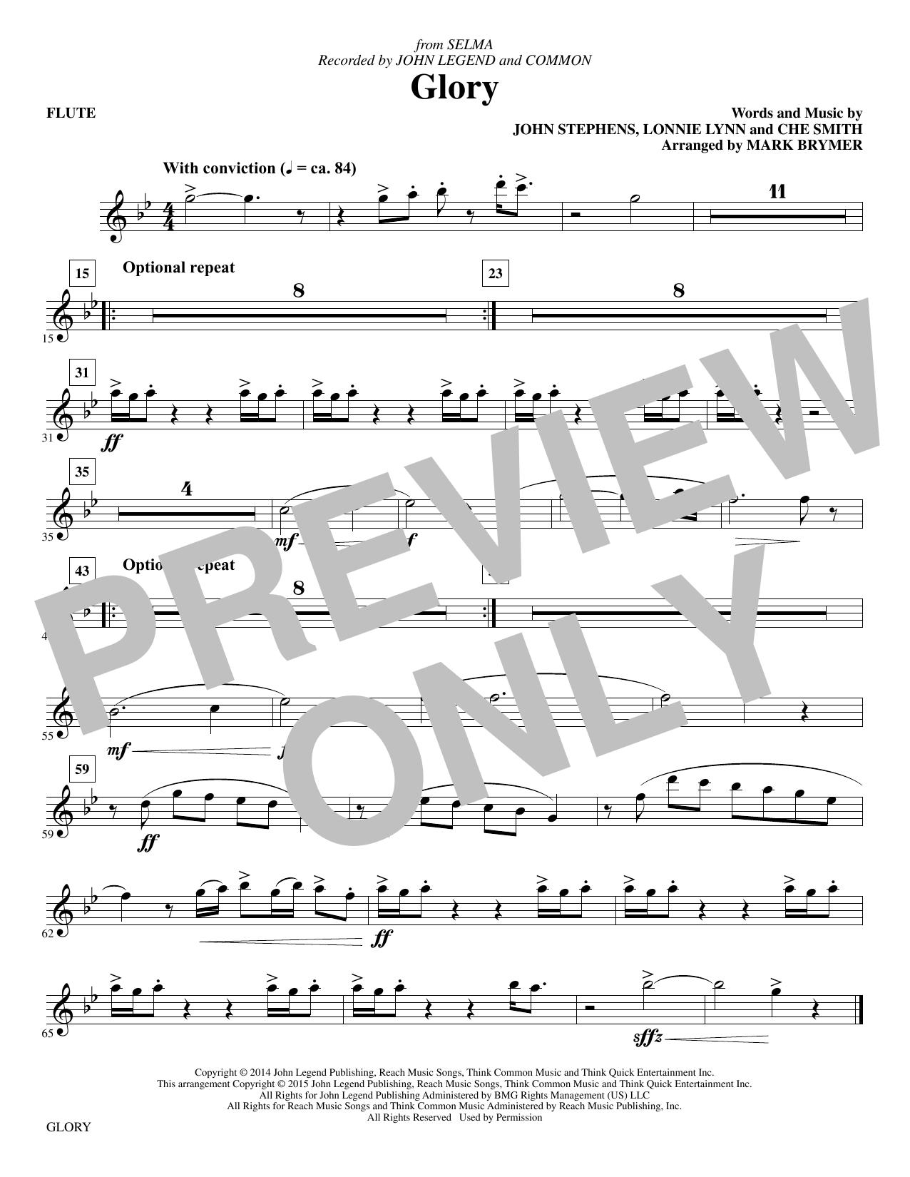 Glory - Flute sheet music