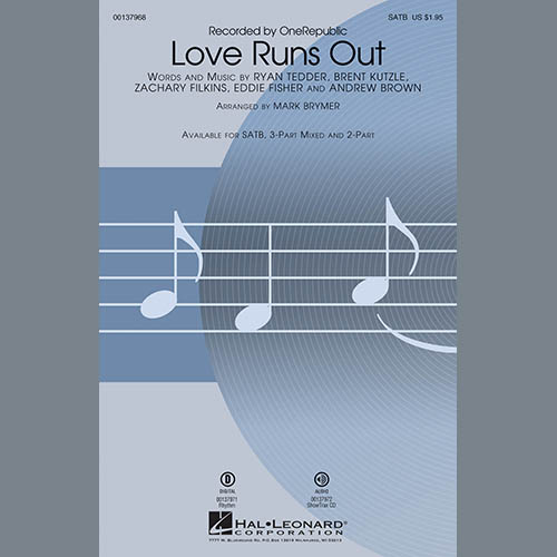 Mark Brymer, Love Runs Out - Bb Trumpet 2, Choir Instrumental Pak