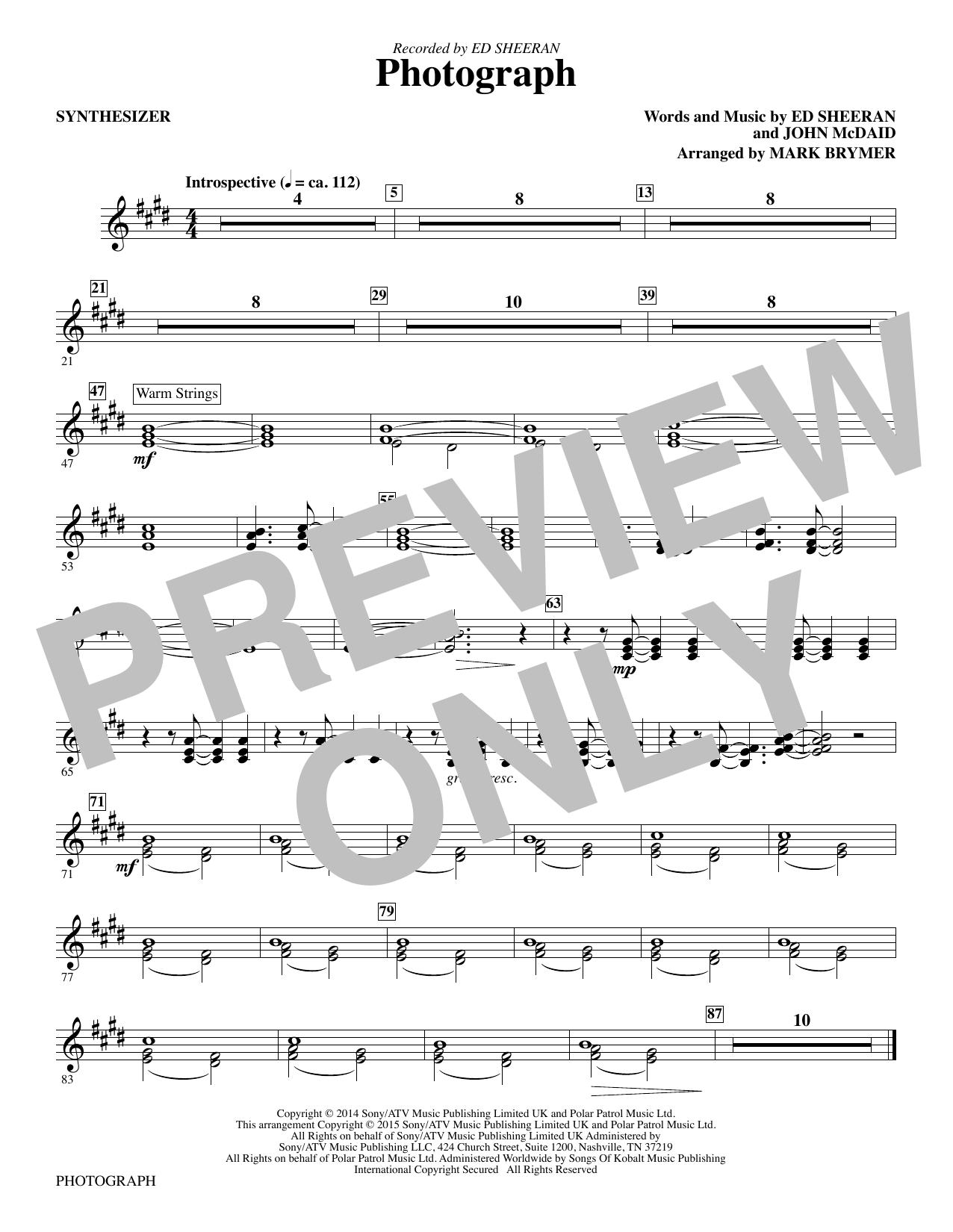 Photograph - Synthesizer sheet music