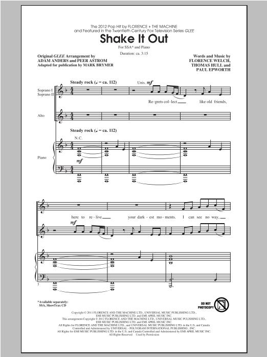 Shake It Out sheet music