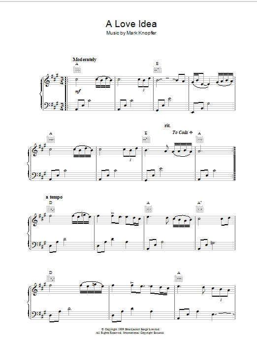 A Love Idea (from Last Exit To Brooklyn) sheet music