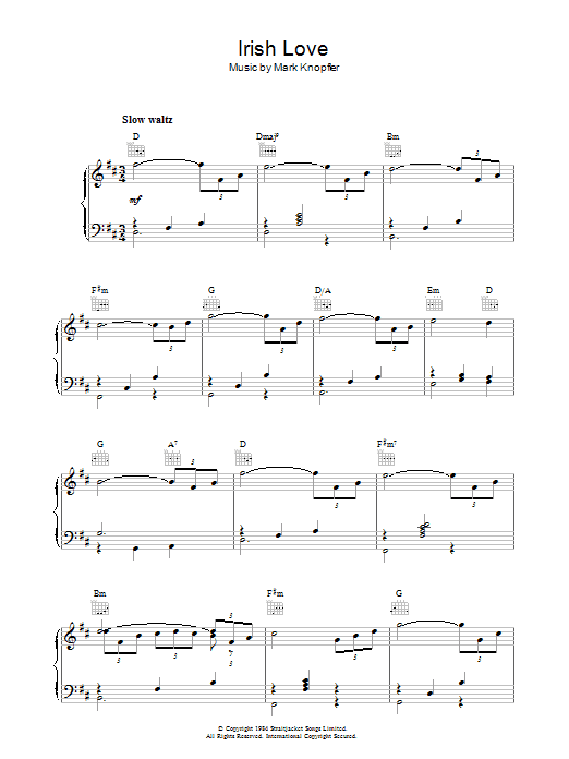 Irish Love (from Cal) sheet music