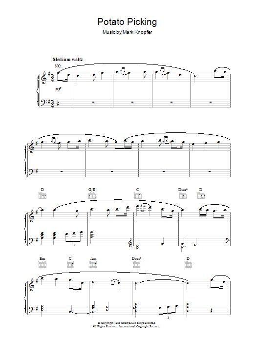 Potato Picking (from Cal) sheet music