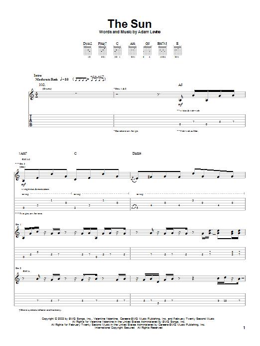 The Sun sheet music