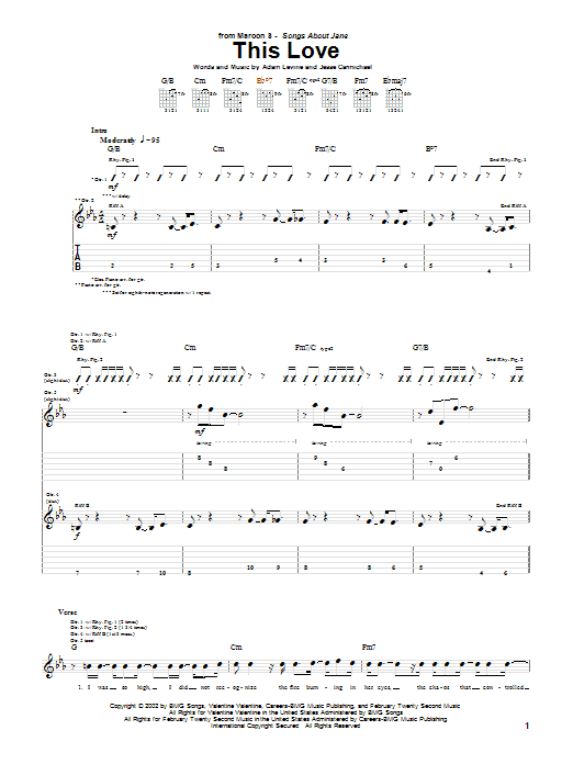 This Love sheet music