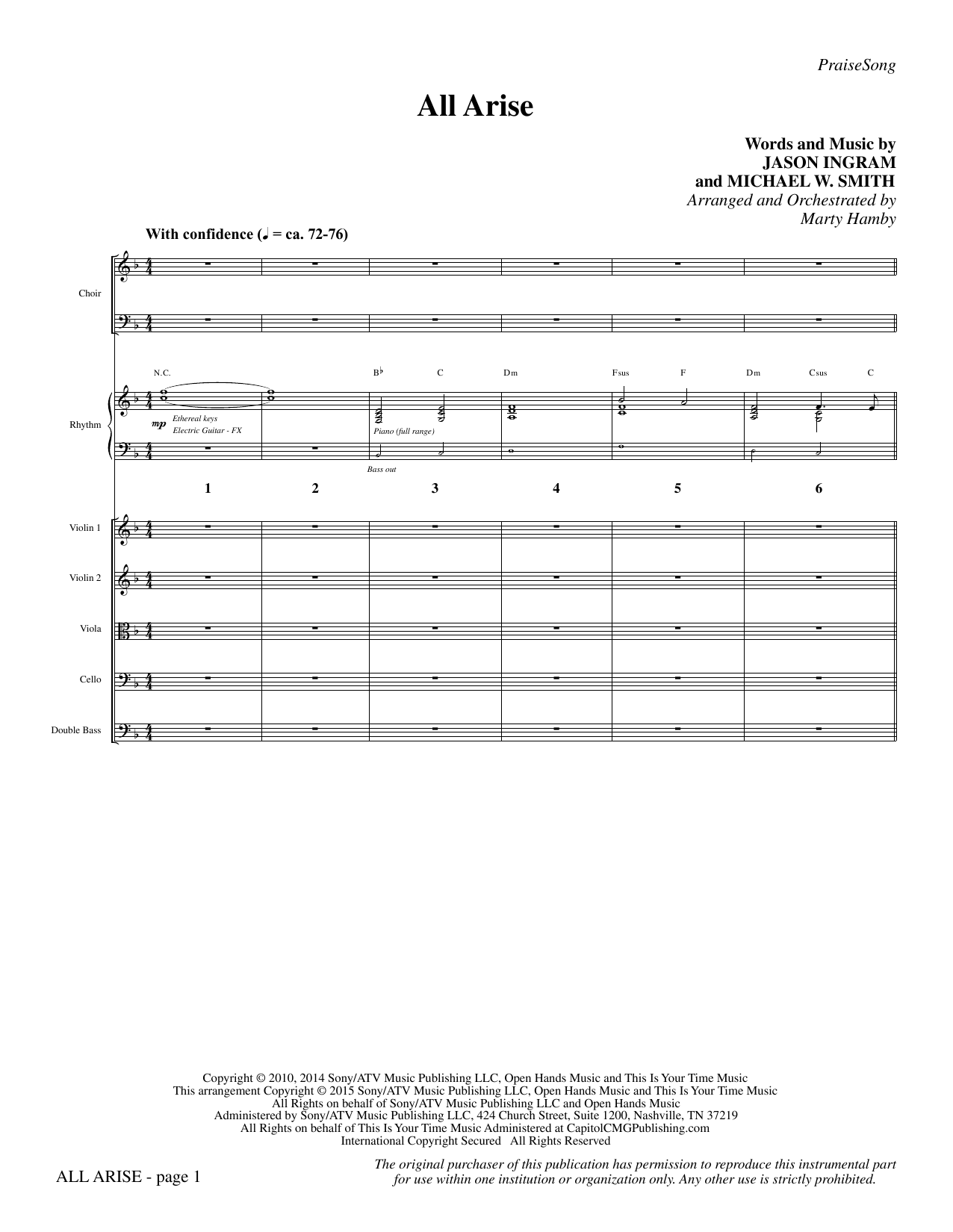 All Arise - Full Score sheet music