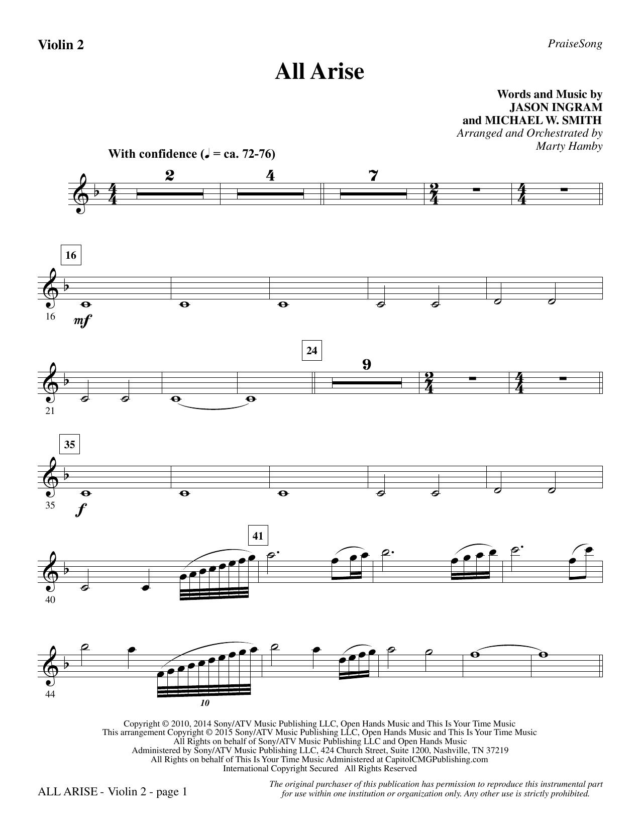 All Arise - Violin 2 sheet music