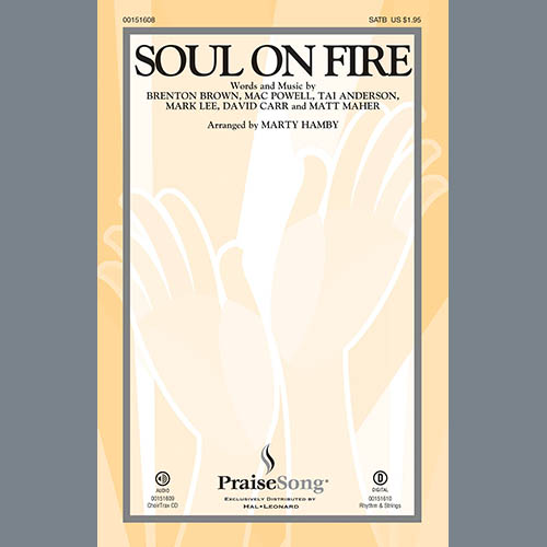 Marty Hamby, Soul on Fire - Violin 2, Choir Instrumental Pak
