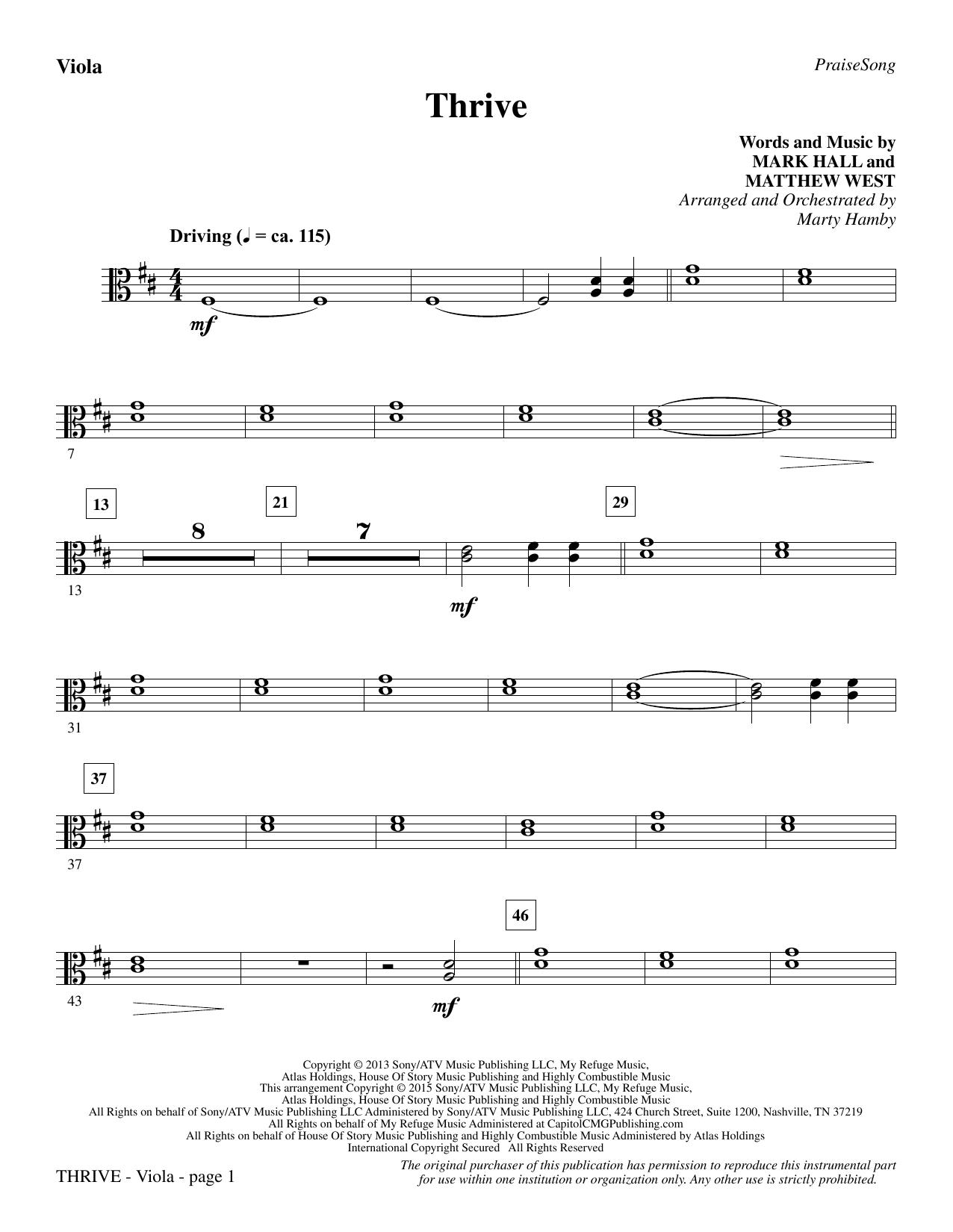 Thrive - Viola sheet music