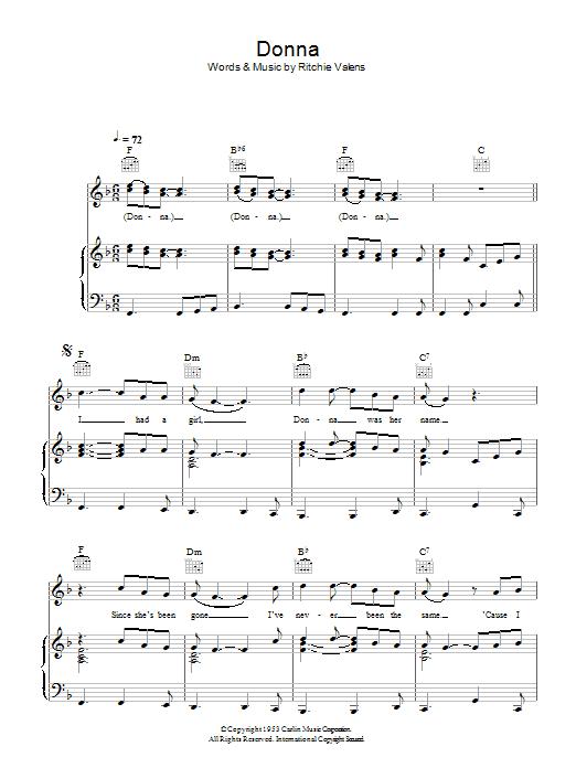 Donna sheet music