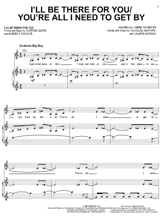 I'll Be There For You sheet music