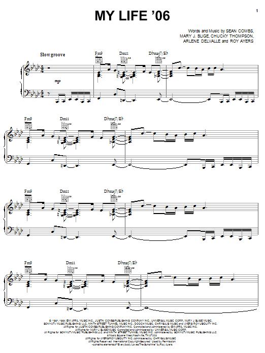 My Life '06 sheet music