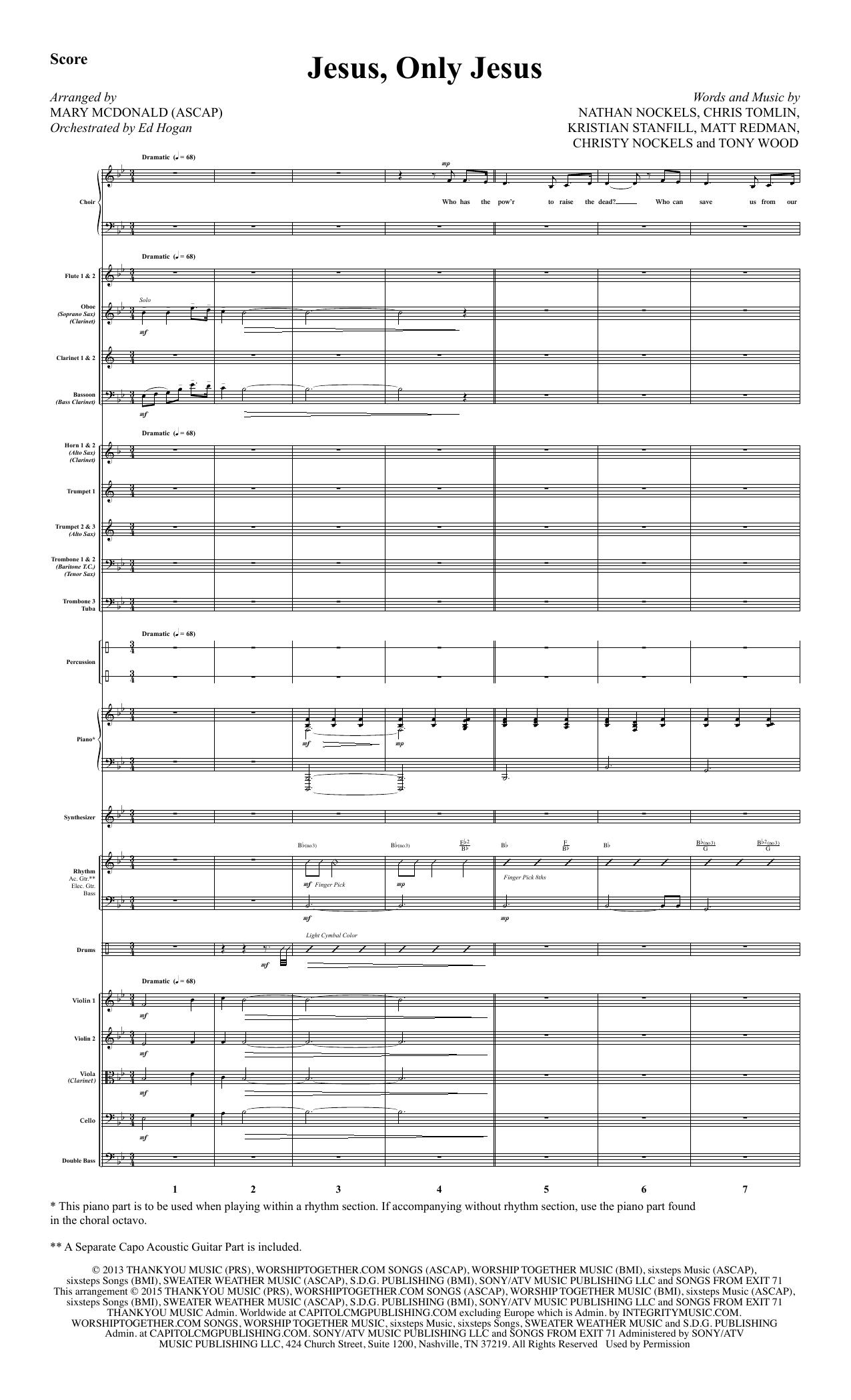 Jesus, Only Jesus - Full Score sheet music
