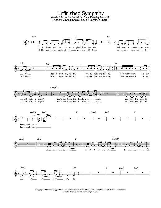 Unfinished Sympathy sheet music