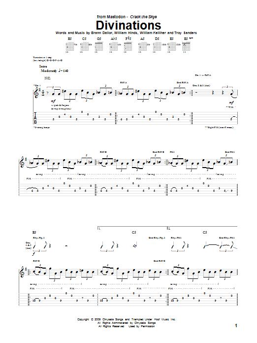 Divinations sheet music